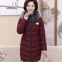 Wholesale Ladies Grey Down Winter Coat - 2017 new winter coat lady older women in the long slim padded a warm down on behalf of
