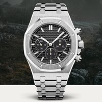 Wholesale full quartz watch - Top AAA Mens Watches Royal Chronometer Date Full Stainless Steel Quartz Watches Sport Wristwatches Gift All Dial working Black Wristwatch