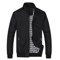 ingrosso cerniere posto-Giacca Uomo Moda Casual Allentato Mens Jacket Sportswear Bomber Jacket Uomo giacche uomo e cappotti Plus Size M- 5XL
