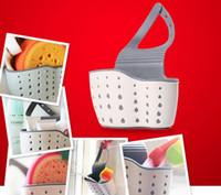 ingrosso portaoggetti da toilette-Cucina Spugna Scolapiatti Holder Fibra di grano Spugna Storage Rack Basket Wash Cloth O Toilet Soap Shelf Organizer