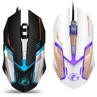 novo fio óptico venda por atacado-2018 novo iMice V6 Profissional Com Fio Gaming Mouse 2400 DPI USB Optical Mouse Com Fio Ratos 6 Botões de Computador Gamer Mouse