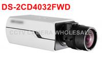 Wholesale cctv box ip camera - Free shipping Multi-language version DS-2CD4032FWD 3MP WDR Box CCTV ip Camera with no lens