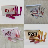 Wholesale kylie lipstick holiday edition for sale - 6pcs set Kylie lipstick Valentine holiday pink Birthday Edition lip Kit lipgloss Kylie Matte Liquid Lipsticks Cosmetics