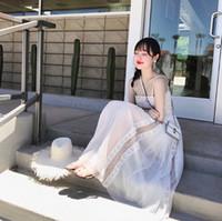 0010dc0cda boob tubes großhandel-Klassische Spitze Gaze Kleider hoch taillierte Fairy  Kleider Bare Schulter Frauen