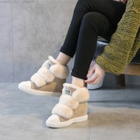Wholesale Wool W - 2017 new winter shoes leather shoes. The increase in thick warm wool Maomao shoes casual shoes