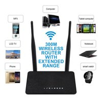 Wholesale Wireless Router Range Extender - 300Mbps Wireless WiFi Router WD-608U Repeater Access Point Range Extender 802.11N Dual Antennas Black EU US Plug
