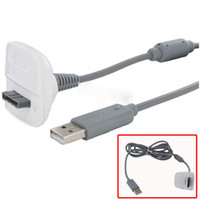 Wholesale playing xbox resale online - New Black Grey USB Charge Charging Cable Cord Play Charger Adapter For XBOX For Xbox slim Controller DHL FEDEX EMS