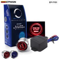 Wholesale Push Start Ignition Cars - Tansky -PIVOT Blue   Red Illumination Car Engine Start Push Button Switch Ignition Starter Touch Kit TK-YY01