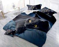 комплекты одеял для животных оптовых-3D животных печатных постельных принадлежностей кошка Дельфин Леопард простыни пододеяльник простыня с наволочкой