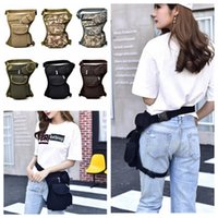 Wholesale waist clutches resale online - Tactical Waist Bag Unisex Canvas Outdoor Cycling Waistpack Sports Leg Bag Clutch Wallet Travel Bags Colors DDA667 Diaper Bag