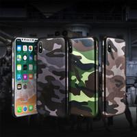 iphone 5s elma deri çanta toptan satış-Kamuflaj Telefon Kılıfı Için iPhone 7 7 Artı X Vaka PU Deri Ordu Camo Darbeye Arka Kapak iphone 5 5 s 6 6 s 8 Artı