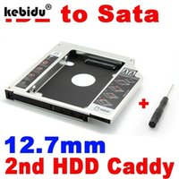 sata ide sabit disk caddy toptan satış-kebiduNew 2. HDD 12.7mm Caddy IDE'den SATA Sabit Disk Sürücüye SSD Alüminyum Kasa Muhafaza CD'si DVD-ROM Dizüstü bilgisayar için Optik Kör Adaptör