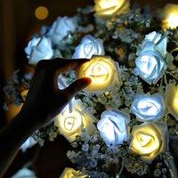 ingrosso stringa dei chrismas-2M batterie LED String lights per Chrismas 20/50 luci rosa vacanza illuminazione decorazione del giardino luce del partito