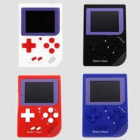 Wholesale Nes Lcd - RS-6 Portable Retro Mini Handheld Game Console 8 bit Color LCD Game Player For FC Game free DHL.