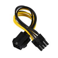 pin pcie power cable achat en gros de-Câble de convertisseur d'alimentation PCI Express 6 broches vers 8 broches pour carte vidéo GPU PCIE PCI-E femelle vers mâle