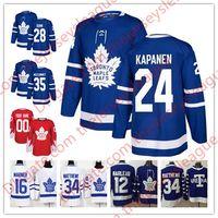 Toronto Maple Leafs 2018  24 Kasperi Kapanen 26 Nikita Soshnikov 28 Connor  Brown 35 Curtis McElhinney White Blue Stitched Hockey Jersey S-60 3b76ce92e