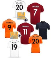Wholesale Western Shirts Xl - Fastest Shipment to UK!New Premier +western union patch! Camiseta L FC Mohamed Salah Steven Gerrard soccer jerseys M.Salah football shirt