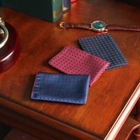 toallas rojas de lunares al por mayor-Hombre azul lunares Retro traje rojo accesorios de vestir para hombre pañuelo de bolsillo toalla Vintage para hombres trajes 25x25 cm