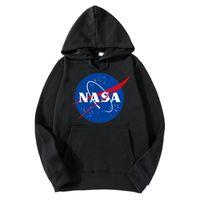 schwarzes rosa mens sweatshirt großhandel-Neue Frauen der Art 2018 Mens der Frauen NASA Hoodie Streetwear Hip Hop Khaki Schwarz grau rosa Weiß Mit Kapuze Hoody Mens Hoodies Sweatshirts