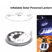 Wholesale solar survival - Inflatable Solar Light Rechargeable Waterproof Solar LED Lantern Lights For Camping Hiking Biking Survival Emergency Lamp