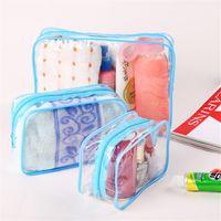Wholesale bedding washing online - High Capacity Cosmetics Storage Bag Transparent Portable Women Organizador Travel Minimalism Fashion Washing Bags Hot Sale mn3 Ww