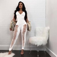 f1582167f0ba 2018 New Vintage Women Jumpsuits Bodycon Pants Bandage Romper Ladies  Bodysuits