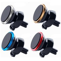 Wholesale mini holder magnetic car online - Universal Car Holder For Iphone X Car Mount Air Vent Magnetic Phone Holder Degree Rotation Mini Car holder
