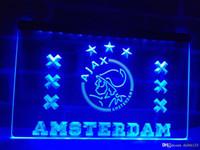 Wholesale Neon Lights Logo - ZH004b- ajax amsterdam Logo Neon Light Sign