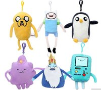 Wholesale Adventure Time Finn - 13cm-21cm Adventure time Plush toy doll pendant Jake Finn Beemo BMO Penguin Gunter Lump Space Princess The Ice King cute gift