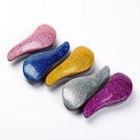 zauberhautbürste großhandel-Glitter Magic Griff Tangle Detangling Kamm Dusche Haarbürste Detangler Salon Styling Tamer Exquite Niedlich Nützliches Werkzeug
