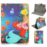 девушки таблеток оптовых-Marina The Mermaid and PU Leather Case for Universal 7 Inch 7.0 for Kids Girls ChildrenGift Tablet Stands
