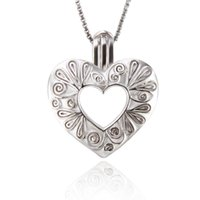 Wholesale locket for sale - Angel s Heart Pearl Cage Pendant Love Wish Open Locket Pendant For Kid DIY charms