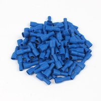 Wholesale Insulated Terminals - FDFD2-187(5) blue Female Insulated Electrical Crimp Terminal for 1.5-2.5mm2 Connectors Cable Wire Connector 1000PCS Pack