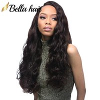 Wholesale virgin human hair wigs sale online - Bella Hair Pre Plucked Body Wave Lace Front Wig Density Virgin Human Hair Lace Wig Thickness Human Hair Wigs on Sale