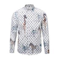 conception de chemises 3d achat en gros de-Medusa 3D imprimé chemises pour hommes design de mode chemise à manches longues hommes occasionnels taille asiatique 2XL