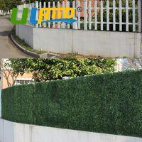 ingrosso tappetini per pannelli-Il nuovo disegno artificiale Bosso 24 pannelli decorativi 25x25cm piante artificiali di plastica Bosso Hedges Mats ornamenti del giardino G0602a001