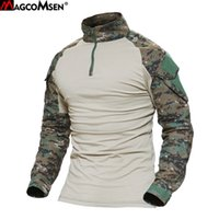 Wholesale army combat shirts for sale - Magcomsen Man Multicam T Shirts Army Camouflage Combat Tactical T Shirt Military Men Long Sleeve T Shirt Hunt T Shirts Ag Fed