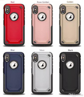 Wholesale Dual Layer Case For iphone XS Max XR Hybrid Robot Rugged Armor for iPhone plus plus