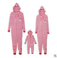 Wholesale mother daughter clothes for sale - Christmas Pajamas Family Matching Outfits Christmas Striped Romper Jumpsuit Mother and Daughter Father Son Matching Clothes Xmas Homewears