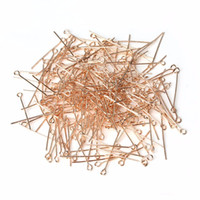 Wholesale pins needles head for sale - Group buy XINYAO mm Rose Gold Color Metal Ball Head Pins Needles Eye Pins Gauge DIY Jewelry Making Findings F117