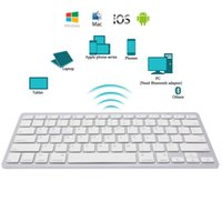 Wholesale keyboard microsoft - New Brief Ultra-Slim Wireless Bluetooth Keyboard for iPad Air 2 iPad mini 1\2\3\4 Galaxy Tabs Microsoft