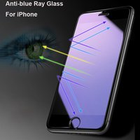 película azul hd al por mayor-Ultra Thin Anti Blue Ray vidrio templado para iPhone 7 6 6S Plus SE 5 5S 5C HD Anti-Blue Light protector de pantalla 9H endurecido película