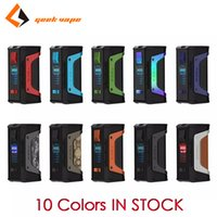 Wholesale Authentic GeekVape Aegis Legend W TC Box Mod Electonic Cigarettes Dual Battery Vape Box Mods Kits with Advanced AS Chipset IN STOCK