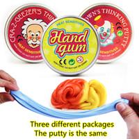 oyuncaklar sakızları toptan satış-Akıllı Yaratıcı El Sakız Sıcaklık Değişimi Açar Renk Balçık Aptal Macun ışık Kil Fimo Hamuru Çamur Doh Oyuncaklar Çocuklar Hediye