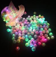 ingrosso palloncini bianchi giallo rosa-100 pz / lotto palla rotonda led luci di palloncino mini flash lampade per lanterna natale decorazione della festa nuziale bianco, giallo, rosa