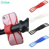 handy zubehör silikon großhandel-Silikon-Fahrrad-Motorrad-Fahrrad-Lenker-Verband-flexibles Band-Handy-Zubehör-Berg-Halter für iPhone 7 plus 6 6s 5 5s Großverkauf