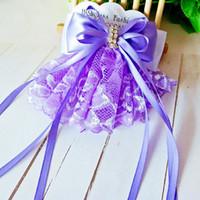 laços de cabelo grande laço venda por atacado-4 cores New Coreano moda rendas grande laço de fita com diamante top clip hairpin acessórios para o cabelo