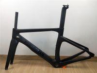 bisiklet stok karbon yolu toptan satış-Stok Sadece 1 Parça 6 K T800 Karbon Fiber PHESANTS Siyah Mat Yol Bisiklet Çerçeve Bisiklet Karbon Çerçeve Boyutu XXS