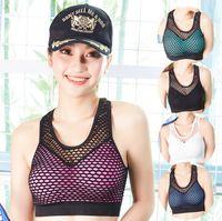 0e77580720 Grid sports bra without steel ring gathered underwear yoga bra sleep  shockproof running underwear ladies seamless adjustment underwear beaut