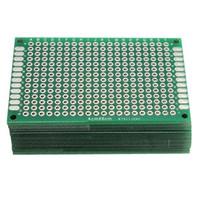 prototyp leiterplatten leiterplatten groihandel-40 stücke FR-4 2,54mm Doppelseite Prototyp PCB Leiterplatte doppelseite Kupfer prototyp pcb Universal Bord elektronische diy kit